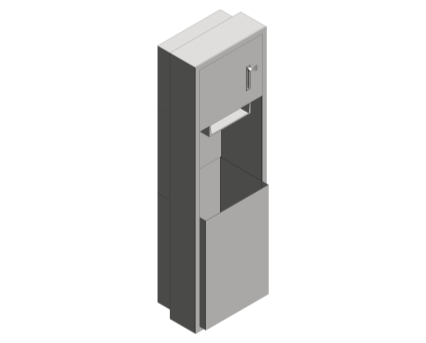 Revit, Bim, Store, Components, Generic, Model, Object, 13, American, Specialties, Inc., Roll, Paper, Towel, Dispenser, Waste, Receptacle, 04692-6