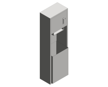 Revit, Bim, Store, Components, Generic, Model, Object, 13, American, Specialties, Inc., Roll, Paper, Towel, Dispenser, Waste, Receptacle, 04692-9