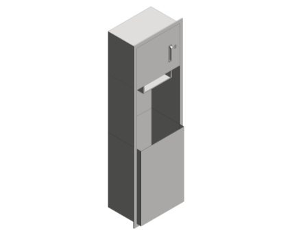 Revit, Bim, Store, Components, Generic, Model, Object, 13, American, Specialties, Inc., Roll, Paper, Towel, Dispenser, Waste, Receptacle, 04692