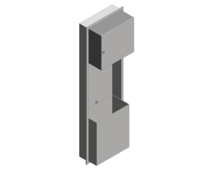 Revit, Bim, Store, Components, Generic, Model, Object, 13, American, Specialties, Inc., Automatic, Recessed, Roll, Towel, Dispenser, Waste, Receptacle, 046924A-9
