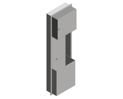 Revit, Bim, Store, Components, Generic, Model, Object, 13, American, Specialties, Inc., Automatic, Recessed, Roll, Towel, Dispenser, Waste, Receptacle, 046924A