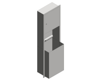Revit, Bim, Store, Components, Generic, Model, Object, 13, American, Specialties, Inc., Recessed, Paper, Towel, Dispenser, Waste, Receptacle, 04697-BL