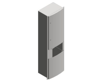 Revit, Bim, Store, Components, Generic, Model, Object, 13, American, Specialties, Inc., Recessed, Automatic, Roll, Paper, Towel, Dispenser, Waste, Receptacle, ADAAG, Compliance, 2046921A