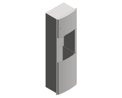 Revit, Bim, Store, Components, Generic, Model, Object, 13, American, Specialties, Inc., Semi, Recessed, Automatic, Roll, Paper, Towel, Dispenser, Waste, Receptacle, 204692A