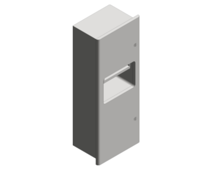 Revit, Bim, Store, Components, Generic, Model, Object, 13, American, Specialties, Inc., Automatic, Roll, Paper, Towel, Dispenser, Waste, Receptacle, 94696A