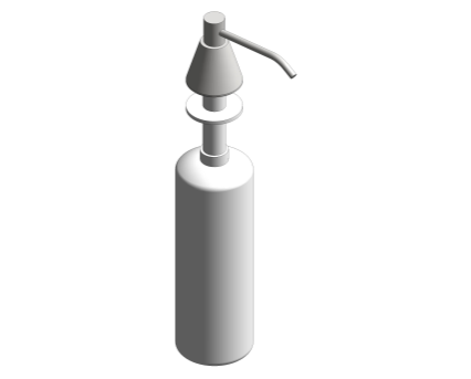 Revit, Bim, Store, Components, Generic, Model, Object, 13, American, Specialties, Inc., Lavatory, Mounted, All, Purpose, Soap, Dispenser, 0332-C