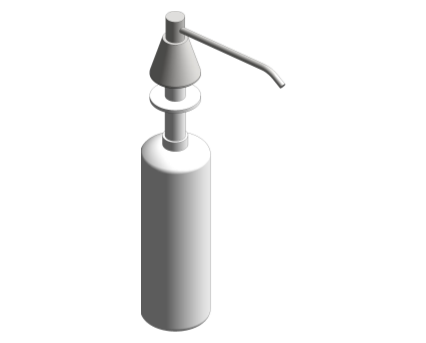 Revit, Bim, Store, Components, Generic, Model, Object, 13, American, Specialties, Inc., Lavatory, Mounted, All, Purpose, Soap, Dispenser, 0332-CD