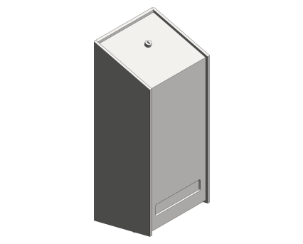 Revit, Bim, Store, Components, Generic, Model, Object, 13, American, Specialties, Inc., Cartridge, Soap, Dispenser, 5001-SS