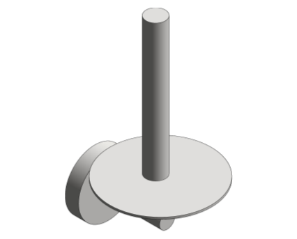 Revit, Bim, Store, Components, Generic, Model, Object, 13, American, Specialties, Inc., Spare, Toilet, Paper, Holder, 7316
