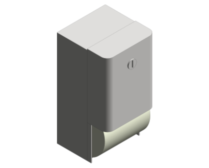 Revit, Bim, Store, Components, Generic, Model, Object, 13, American, Specialties, Inc., Surface, Mounted, Dual, Roll, Toilet, Tissue, Dispenser, 9030