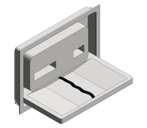 Recessed Stainless Steel Baby Changing Station (9013)