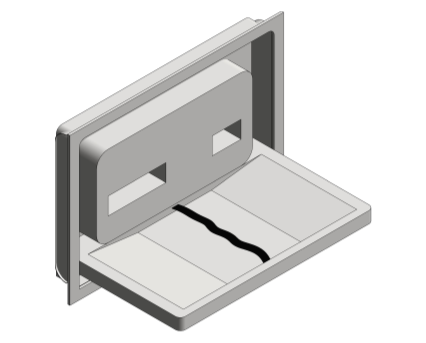Revit, Bim, Store, Components, Generic, Model, Object, 13, American, Specialties, Inc., Recessed, Stainless, Steel, Baby, Changing, Station, 9013