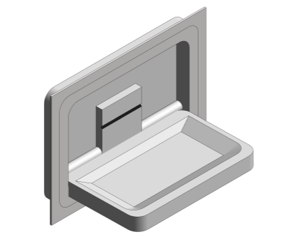 Revit, Bim, Store, Components, Generic, Model, Object, 13, American, Specialties, Inc., Recess, Mounted, Stainless, Steel, Horizontal, Baby, Changing, Station, 9018