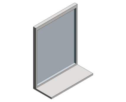 Revit, Bim, Store, Components, Generic, Model, Object, 13, American, Specialties, Inc., Stainless, Steel, Channel, Frame, Mirror, Shelf, 0625