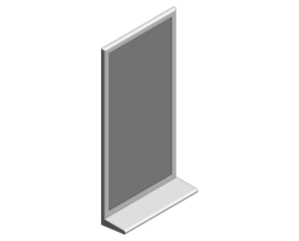 Revit, Bim, Store, Components, Generic, Model, Object, 13, American, Specialties, Inc., Stainless, Steel, Mirror, Integral, Shelf, 20655