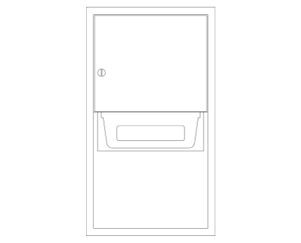 Revit, Bim, Store, Components, Generic, Model, Object, 13, American, Specialties, Inc., Automatic, Roll, Paper, Towel, Dispenser, 045224A