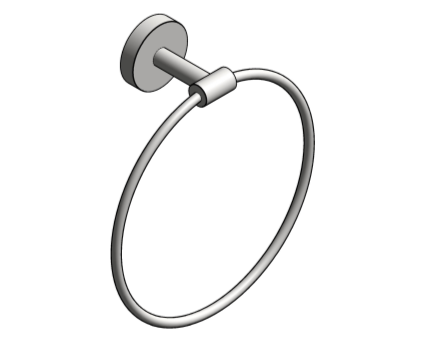 Revit, Bim, Store, Components, Generic, Model, Object, 13, American, Specialties, Inc., Towel, Ring, 7306