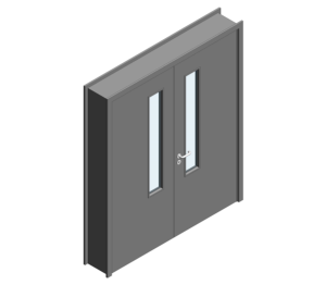 Revit, BIM, Download, Free, Components, Object, Door, Doorset, Bespoke, CW, Fields, and, Son, Limited, 44mm, Thick, Equal, Pair, Internal