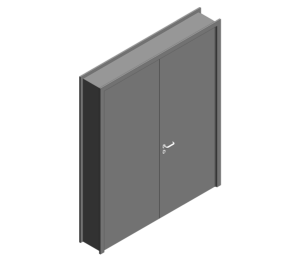 Revit, BIM, Download, Free, Components, Object, Door, Doorset, Bespoke, CW, Fields, and, Son, Limited, 54mm, Thick, Equal, Pair, Internal