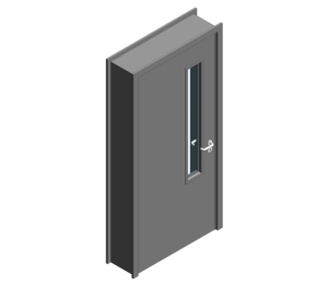 Revit, BIM, Download, Free, Components, Object, Door, Doorset, Bespoke, CW, Fields, and, Son, Limited, 54mm, Thick, Single, Internal, Door