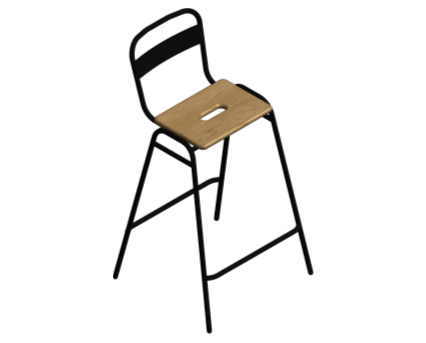 Revit, BIM, Furniture, Family, UK, British, Furnishings, Seating, Interior, Design, deadgood, dead, good, Working, Girl, Soft, Stool, Chair