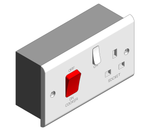 Bim, Content, Object, Component, BIM, Store, Revit, Free, Original, Library, Electrical, Power, Fixtures, Deta, Electrical, Sockets, Outlets, Switches, Plug, Gang, 45, 45A, Cooker, Control, units, Switches, Slimline