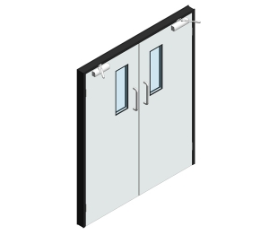 Dortek Hygienic Hinged Doors - Lead Lined