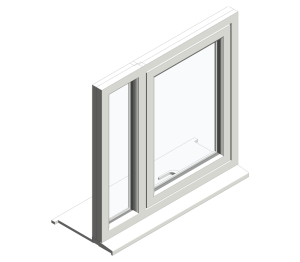 Top Swing Fixed Next to Single Window