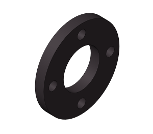 HTA - Backing Rings PN16 Black 4 Holes