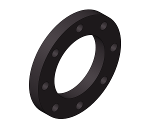 HTA - Backing Rings PN16 Black 8 Holes