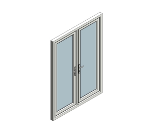 Eurocell free revit families other bim objects for Upvc french doors inward opening