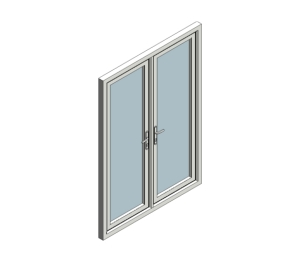 Eurocell free revit families other bim objects for Outward opening french doors