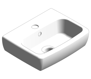 E100 Square 320x280mm Washbasin