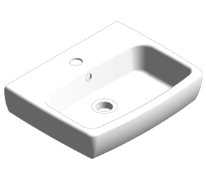 E100 Square 450x350mm Washbasin