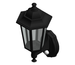 Aluminium Six Panel P-Lux Traditional Lantern - GL1362LU