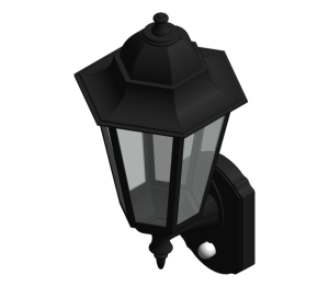 Aluminium Large Six Panel P-Lux Traditional Lantern - GL2362LU