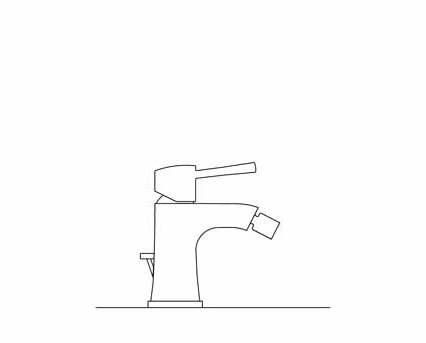 Revit, Bim, Store, Components, MEP, Object, Grohe, Plumbing, Fixtures, 14, METRIC, Grandera, Single, Lever, Bidet, Mixer, 23315000