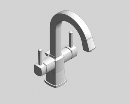 Revit, Bim, Store, Components, MEP, Object, Grohe, Plumbing, Fixtures, 14, METRIC, Grandera, Two, Handle, Basin, Mixer,  21107000