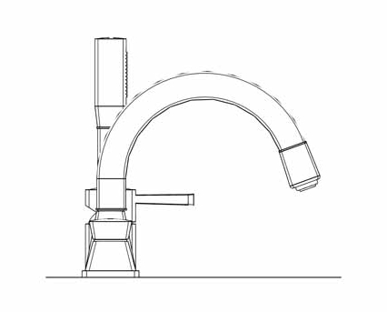 Revit, Bim, Store, Components, MEP, Object, Grohe, Plumbing, Fixtures, 14, METRIC, Grandera, Four, Hole, Bath, Combination, 19936000