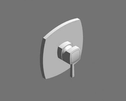 Revit, Bim, Store, Components, MEP, Object, Grohe, Plumbing, Fixtures, 14, METRIC, Grandera, Single, Lever, Shower, Mixer, Trim, 19932000