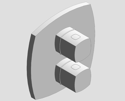 Revit, Bim, Store, Components, MEP, Object, Grohe, Plumbing, Fixtures, 14, METRIC, Grandera, Thermostatic, Bath, Mixer, Integrated, 2, Way, Diverter, 19948000