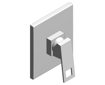 Revit, Bim, Store, Components, MEP, Object, Grohe, Plumbing, Fixtures, 14, METRIC, Eurocube, Single, Lever, Shower, Mixer, Trim, 19898000
