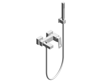 Revit, Bim, Store, Components, MEP, Object, Grohe, Plumbing, Fixtures, 14, METRIC, Eurocube, Single, Lever, Bath, Shower, Mixer 23141000