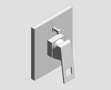 Revit, Bim, Store, Components, MEP, Object, Grohe, Plumbing, Fixtures, 14, METRIC, Eurocube, Single, Lever, Bath, Shower, Mixer, Trim, 19896000