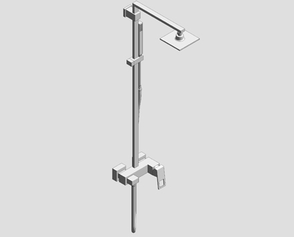 Revit, Bim, Store, Components, MEP, Object, Grohe, Plumbing, Fixtures, 14, METRIC, Eurocube, System, 150, Shower, System, with, Single, Lever, Mixer, 23147000