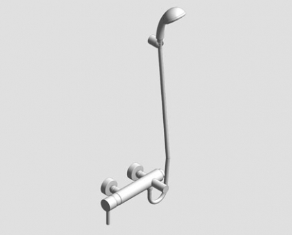 Revit, Bim, Store, Components, MEP, Object, Grohe, Plumbing, Fixtures, 14, METRIC, Essence, Single, Lever, Bath, Shower, Mixer, 33628000
