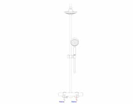 Revit, Bim, Store, Components, MEP, Object, Grohe, Plumbing, Fixtures, 14, METRIC, New, Tempesta, Cosmopolitan, 160, Shower, System, Thermostat, 27922000