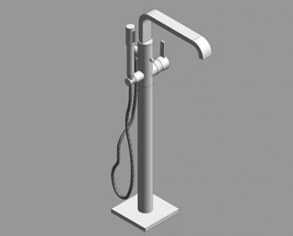 Revit, Bim, Store, Components, MEP, Object, Grohe, Plumbing, Fixtures, 14, METRIC, Allure, Single, Lever, Bath, Mixer, 32754000