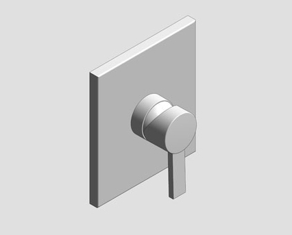 Revit, Bim, Store, Components, MEP, Object, Grohe, Plumbing, Fixtures, 14, METRIC, Allure, Single, Lever, Shower, Mixer, Trim, 19317000