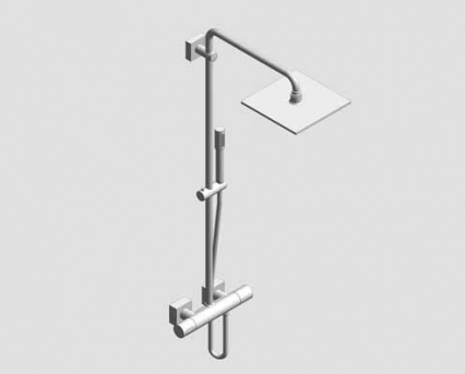 Revit, Bim, Store, Components, MEP, Object, Grohe, Plumbing, Fixtures, 14, METRIC, Rainshower, F, Series, System, 254, Shower, System, Thermostat, 27469000